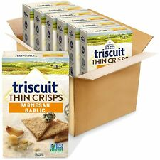 (6) 7.1 Ounce Box Triscuit Thin Crisps Parmesan Garlic Crackers
