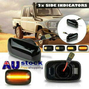 2x SIDE REPEATERS LIGHTS For Toyota Land Cruiser 70 80 100 Series INDICATORS HOT