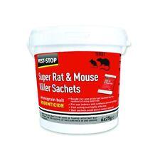 Pest-Stop Super Mouse & Rat Killer Wholegrain Bait 6 X 25g Sachets Poison