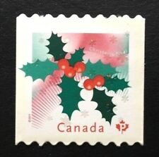Canada #2491i Die Cut MNH, Christmas - Holly Stamp 2011