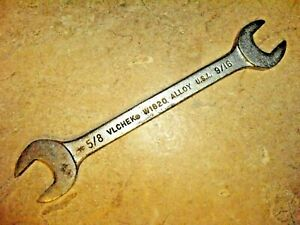 """VLCHEK W1820 OPEN END WRENCH 9/16 X 5/8 inch QUALITY VINTAGE USA TOOL 6.5"""" Long."""