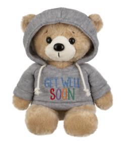 Ganz E1 Plush Stuffed Animal Toy Hoodie Teddy Bear 9in - Get Well Soon