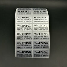 100 silver VOID Security Labels Removed Tamper Evident Warranty VOID Sticker