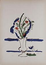 """Gastone BREDDO """"Vaso di Fiori"""" Litografia a colori cm 50x70 es.n.45/70"""