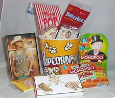 Popcorn Movie Gift Basket Dvd Kenney Chesney Candy Twizzlers Ect