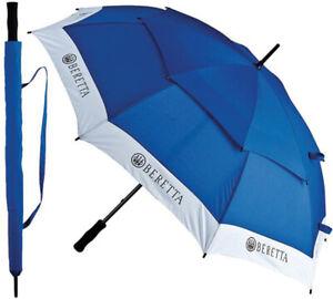 Beretta OM3304140560 Blue/White Competition Umbrella w/ Logo & Strap Closure