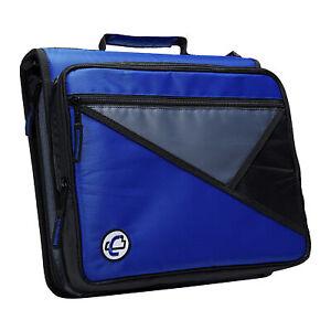 Case-it Universal Laptop Zipper Binder, O-Ring, 2 Inches, Blue