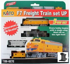 Kato ~ New 2020 ~ N Scale Union Pacific UP Freight Train Set ~ 5 Pieces ~1066272