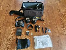 Nikon D D3200 24.2 MP DSLR Camera - Black with 18x55mm and 55x200mm Lenses