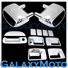 Ford F250+F350+F450 Chrome Mirror W/ Light+4 Door Handle No KH+Tailgate Cover