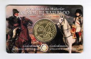 2 pc 2015 BELGIUM 2.5 Euro Rare COINCARD 200 Yrs Battle WATERLOO, SPECIAL OFFER