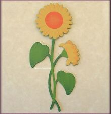 SUNFLOWER WITH STEM METAL MAGNET BY EMBELLISH YOUR STORY FREE U.S. SHIPPING