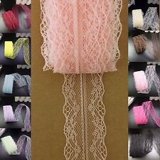 5 yds (4.57m) Lace Ribbon Vintage 4cm Bilateral Trim scrapbook sewing  #584