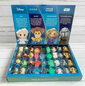 Woolworths Disney + Ooshies FULL Complete SET of 36 + CASE