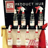 NEW!! Autoglym Professional Car Product Hub + 4 Spray Bottles **STORE YOUR KIT**