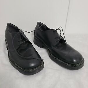 Unlisted by Kenneth Cole Size 13 Black Leather Round Toe Mens Shoes UM10075LE