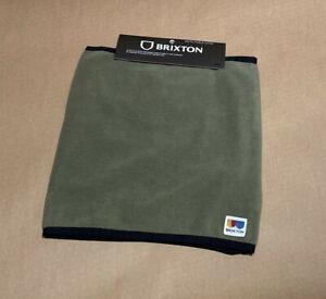 Brixton Mens Arctic Fleece Gaiter OS Olive green Outdoor Activewear Warm