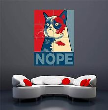 GRUMPY CAT NOPE INTERNET MEME NEW GIANT WALL ART PRINT PICTURE POSTER OZ247