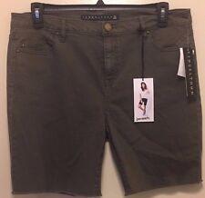 Tinseltown Shorts  Army Green STRETCH Cut OFF 4 Back Pockets Jean $40 Sz 15 NWT