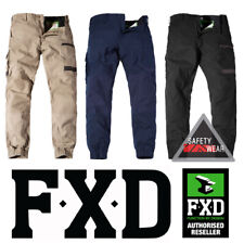 FXD WP-4 Cuffed Pants Workwear Trousers Regular Fit Stretch Khaki Navy Black