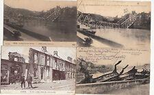 Lot 4 cartes postales anciennes GUERRE 14-18 WW1 CREIL 2