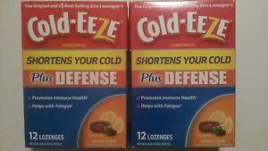2-pk Cold-EEZE Plus Defense Cold-Shortening Lozenges Citrus with Elderberry