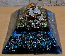 Orgone Amethyst and Blue Lace pyramid