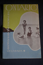 1935 Ontario The Famous Lakeland Playground of Canada Brochure