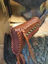 LEATHER GUN STOCK COVER/SHELL HOLDER Winchester Marlin Rossi Stoeger Butt Stock