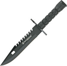 "Smith & Wesson Special Ops Bayonet Knife SW3B Black coated blade. 12 3/4"" overal"