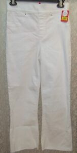 Spanx Small White cropped flare Jeans jeggings 20232R smooth shaping raw hem New