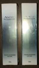 Avon 2 x Anew Retroactive Youth Extending Eye Gels 12ml. RRP $50