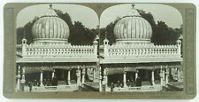 Realistic Travels Stereoview Dastur Khan Mosque at Ahmedabad, India Early 1900's