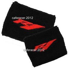 YAMAHA R1 BRAKE/CLUTCH RESERVOIR SOCKS FLUID TANK CUP COVER SET BLACK&RED