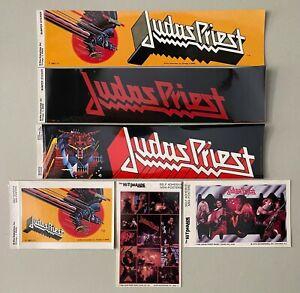 Vintage Judas Priest Hit Parade Bumper & Mini-Poster Stickers - Unused Stock