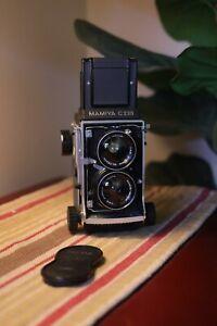 Mamiya C220 Medium Format TLR w/ 55mm f4.5 Wide Lens - MINT- Works GREAT