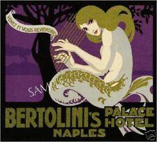 Vintage Mermaid Art Deco Fantasy *Canvas* Poster Print