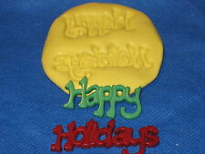 Christmas Happy Holiday Silicone Mold Flexable Candy Chocolate Fondant 262