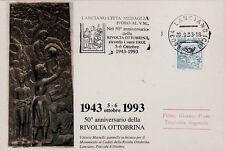#LANCIANO- CITTA' MEDAGLIA D'ORO AL V.M.- 50° ANNIV. DELLA RIVOLTA -ANNULLO A..