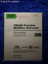 Sony Bedienungsanleitung MZ NF810 Mini Disc Recorder (#3087)