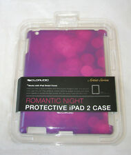SOLOAUDIO ARTISTIC COLL ROMANCE NIGHT PINK,PURPLE PROTECTIVE IPAD 2 COVER,CASE