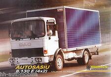 Prospectus ro camion roman DAC 8.130 F 4x2 5/02 camion brochure 2002 brochure Europe
