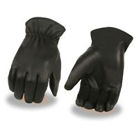 Milwaukee Leather Men's Leather Thermal Lined Gloves w/ Cinch Wrist **SH734