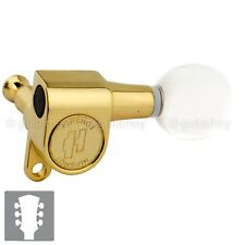 NEW Hipshot Classic Tuners Pearloid Buttons Set Schaller Style Mini 3x3 - GOLD