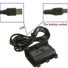 2x 2400mAh Rechargeable Battery Pack for Xbox One Controller + USB Cable Hot IJI