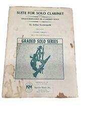 Suite For Solo Clarinet Unaccompanied Frankelpohl Grade 6 Kendor