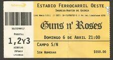 Argentina Guns N' Roses Concert Ticket Stub 2014
