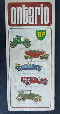 1974 Onatrio  road  map BP oil gas  old cars cover Canada