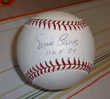ERNIE BANKS --  SIGNED MAJOR LEAGUE BASEBALL -- COA