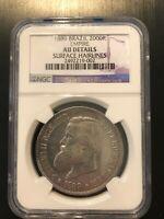 1889 Brazil 2000R Reis Empire NGC - AU DETAILS
